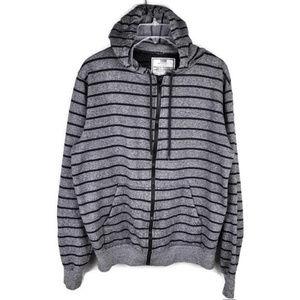 Chor Hoodie Stripe Zip front Size Large